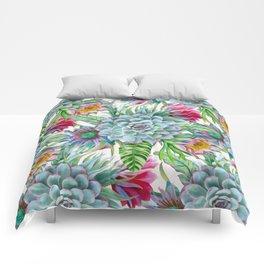 Exotic flower garden Comforters