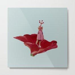 Flower Lady Metal Print