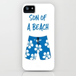 Son Of A Beach iPhone Case