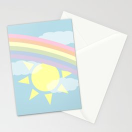 Pastel Rainbow Stationery Cards
