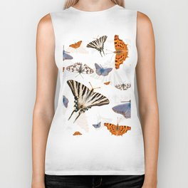 Colorful butterflies of europe Biker Tank