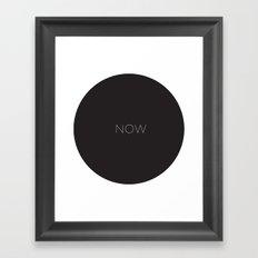 NOW Wallclock Framed Art Print