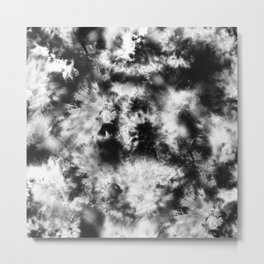 Black and White Tie Dye & Batik Metal Print