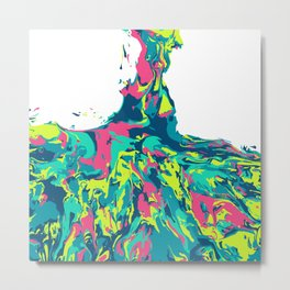 Flow - Techno Metal Print
