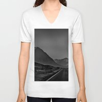 scotland V-neck T-shirts featuring Scotland by itsthezoe