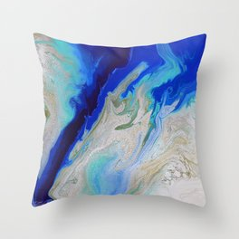 Caribbean Trench Throw Pillow