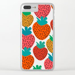 Funny strawberries Clear iPhone Case