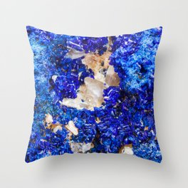 Crystalline Stone Rock Gem Throw Pillow