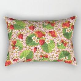 Pink Paisley Strawberries Rectangular Pillow