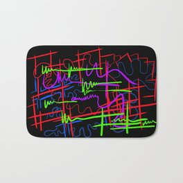 abstract neon splash Bath Mat