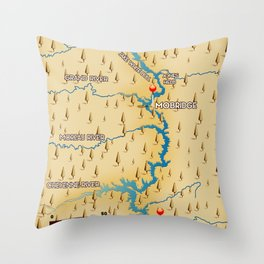 Lake Oahe South Dakota Throw Pillow
