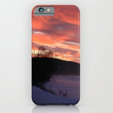 Wintry Sunset over the Porkies Slim Case iPhone 6s
