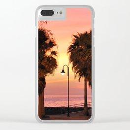 Sunset 1: streetlight Clear iPhone Case