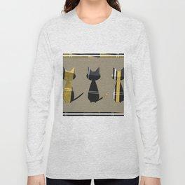 Cats in Tartan - very Scottish Long Sleeve T-shirt