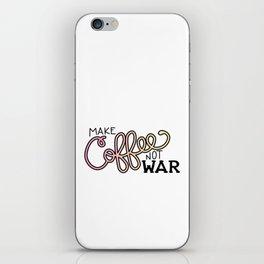 Coffee Not War (Sunset) iPhone Skin