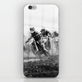 Motocross black white iPhone Skin