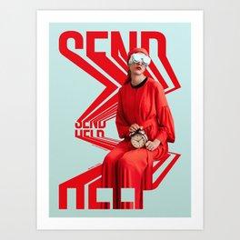 Send Help Art Print