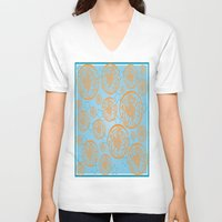 marine V-neck T-shirts featuring marine by Maritserg