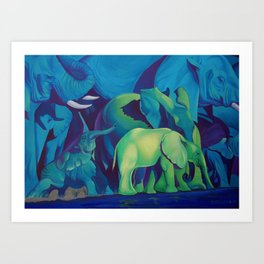 Blue Dreams Art Print