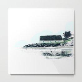 Beach Cottage Metal Print