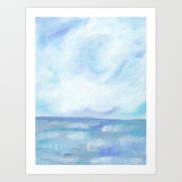 Warm Fall Days - Tropical Ocean Seascape Art Print