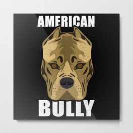 American Bully Dog Breed Metal Print