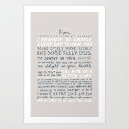 Sharyn Vows Art Print