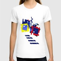 bicycles T-shirts featuring Abstract geometrical bicycles. by capricorn