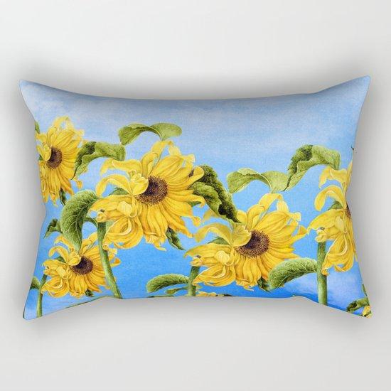 Where the Sunflowers Grow Rectangular Pillow