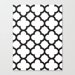 Black Quatrefoil Canvas Print