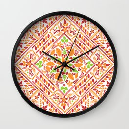 Flowers and Leaves in a box Wall Clock