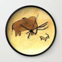 Mammoth and Antelope Wall Clock