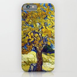 The Mulberry Tree in Autumn by Vincent van Gogh iPhone Case
