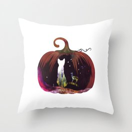 Hallow Kitty Throw Pillow