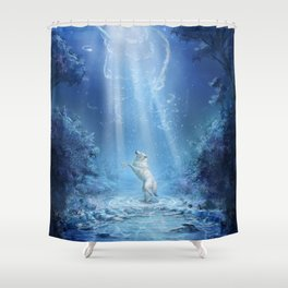 A wolf's tale Shower Curtain
