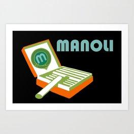 Manoli Plakatstil Art Print