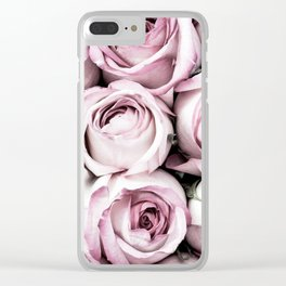 A Cascade of Perfectly Pink Roses Clear iPhone Case