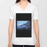 custom V-neck T-shirts featuring Custom Regulations by mofart photomontages