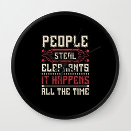 Elephant Quote - 36 Wall Clock