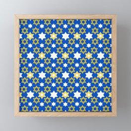 Hanukkah Star Of David Modern, Contemporary Pattern Framed Mini Art Print