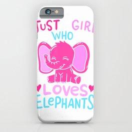 Elephant Girls Gift T-Shirt iPhone Case