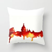 rome Throw Pillows featuring Rome by Talula Christian