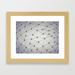 Cryptocurrency network Framed Art Print