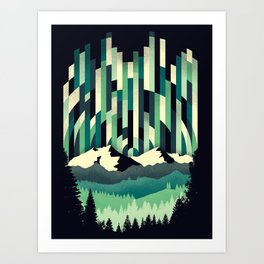 Sunrise in Vertical - Winter Blues Art Print