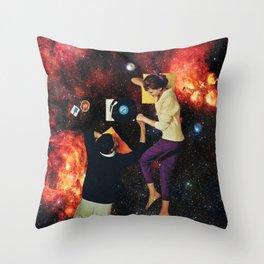 Soft universe Throw Pillow