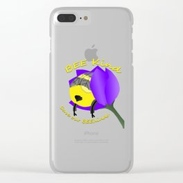 Bee Kind Save Our Behinds Clear iPhone Case