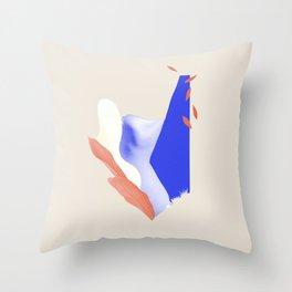 Blue nude II Throw Pillow