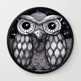 Owl II Wall Clock