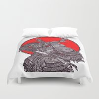battlefield Duvet Covers featuring Shogun by Mongolizer