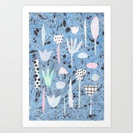 Marble plants Art Print